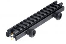 UTG Low-profile Full Size Riser Mount, 0.5 High, 13 Slots