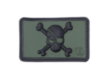 Pirate Skull Rubber Patch Forest