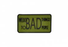 We do bad Things Rubber Patch Forest