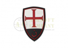 Crusader Shield Rubber Patch Color JTG